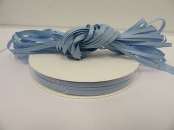 Light Baby Blue Grosgrain ribbon Ribbed Double sided, 3mm, 6mm 10mm 16mm 22mm 38mm 50mm